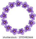 violets. the frame is round...   Shutterstock .eps vector #1955482666