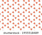 red hearts. seamless background ...   Shutterstock .eps vector #1955518489