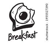 breakfast graphics bread and... | Shutterstock .eps vector #1955527390