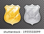 gold and silver police officer... | Shutterstock .eps vector #1955533099