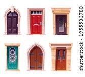wooden doors  medieval and...   Shutterstock .eps vector #1955533780