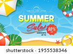 summer sale banner vector... | Shutterstock .eps vector #1955538346