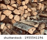 A Pile Of Stacked Firewood....