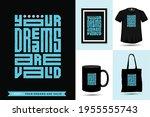 typographic quote motivation...   Shutterstock .eps vector #1955555743