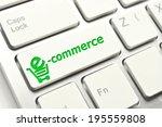 e commerce button on computer... | Shutterstock . vector #195559808