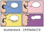 set of cartoons with empty...   Shutterstock .eps vector #1955606173
