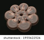 abstract gold background.... | Shutterstock . vector #1955622526