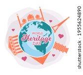 world heritage day poster ...   Shutterstock .eps vector #1955624890
