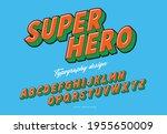 super hero comic typography... | Shutterstock .eps vector #1955650009