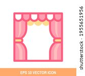 cartoon stage icon vector...