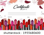 Makeup Beauty Lipstick Border...