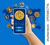 ethereum  bitcoin  litecoin ... | Shutterstock .eps vector #1955681776