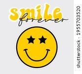 retro slogan print with smile...   Shutterstock .eps vector #1955703520