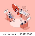 couple therapy concept vector... | Shutterstock .eps vector #1955720983