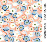 seamless vector pattern with... | Shutterstock .eps vector #1955727886