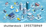 blockchain applications and... | Shutterstock .eps vector #1955758969