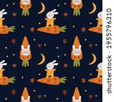 seamless pattern with cute... | Shutterstock .eps vector #1955796310