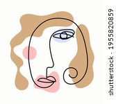abstract sketch of female head. ...   Shutterstock .eps vector #1955820859