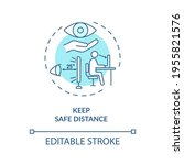 keep safe distance concept icon.... | Shutterstock .eps vector #1955821576