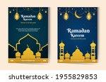 ramadan template background.... | Shutterstock .eps vector #1955829853