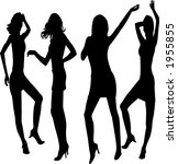 dancing girls silhouettes   ... | Shutterstock .eps vector #1955855