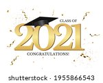 graduation class of 2021 with...   Shutterstock .eps vector #1955866543