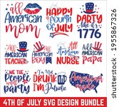 4th of july svg  united stated... | Shutterstock .eps vector #1955867326