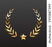 award star and golden laurel.... | Shutterstock .eps vector #1955887399