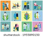 vector background with disabled ... | Shutterstock .eps vector #1955890150