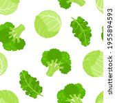cartoon green vegetables... | Shutterstock .eps vector #1955894593