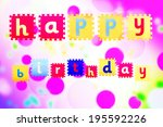 happy birthday | Shutterstock . vector #195592226