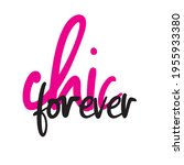 girly typography. stylish and... | Shutterstock .eps vector #1955933380