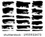 brush strokes bundle. vector... | Shutterstock .eps vector #1955933473