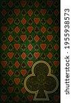 casino vintage clubs poker card ...   Shutterstock .eps vector #1955938573