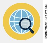 global search icon | Shutterstock . vector #195595433