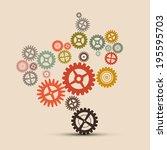 cogs   gears vector retro...   Shutterstock .eps vector #195595703