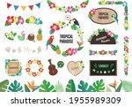 tropical  summer material... | Shutterstock .eps vector #1955989309