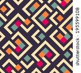 seamless raster geometric... | Shutterstock . vector #195599108