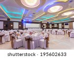 wedding hall or other function... | Shutterstock . vector #195602633