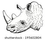 hand drawn  sketch  cartoon... | Shutterstock .eps vector #195602804