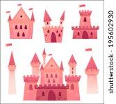 cute cartoon vector medieval... | Shutterstock .eps vector #195602930