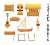 hawaiian set holiday...   Shutterstock .eps vector #1956060379