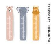 kids height chart. cute wall...   Shutterstock .eps vector #1956065866
