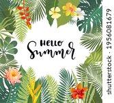 vector hello summer beautiful...   Shutterstock .eps vector #1956081679