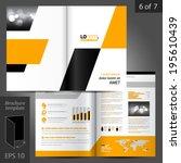geometric vector brochure... | Shutterstock .eps vector #195610439