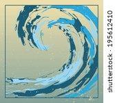 design template rough surfing... | Shutterstock . vector #195612410