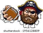 a pirate american football...   Shutterstock .eps vector #1956128809