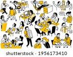 doodles set of various business ... | Shutterstock .eps vector #1956173410