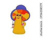 vector mushroom character.... | Shutterstock .eps vector #1956208579