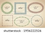 needlework style and sewing... | Shutterstock .eps vector #1956222526